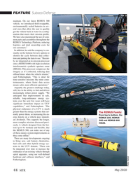 Marine Technology Magazine, page 44,  May 2020