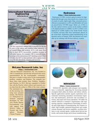 Marine Technology Magazine, page 58,  Jul 2020