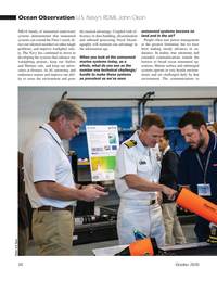 Marine Technology Magazine, page 30,  Oct 2020