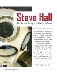 Marine Technology Magazine, page 25,  Nov 2020
