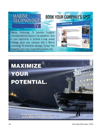 Marine Technology Magazine, page 58,  Nov 2020