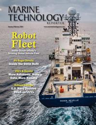 Marine Technology Magazine Cover Jan 2021 - Underwater Vehicle Annual