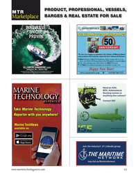 Marine Technology Magazine, page 63,  Jan 2021