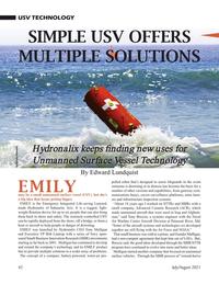 Marine Technology Magazine, page 42,  Jul 2021