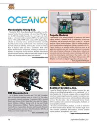 Marine Technology Magazine, page 76,  Sep 2021