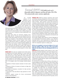 Maritime Logistics Professional Magazine, page 34,  Q1 2011