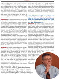 Maritime Logistics Professional Magazine, page 35,  Q1 2011 ballast water treatment technology