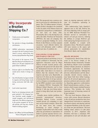 Maritime Logistics Professional Magazine, page 40,  Q1 2011