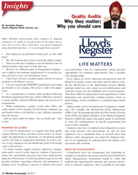 Maritime Logistics Professional Magazine, page 12,  Q2 2011 Port Facility Security Code