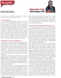 Maritime Logistics Professional Magazine, page 16,  Q2 2011 Robert Kunkel