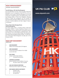 Maritime Logistics Professional Magazine, page 23,  Q2 2011 Noah Ship Management Mr. Svein Eloff