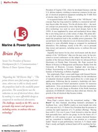 Maritime Logistics Professional Magazine, page 26,  Q2 2011 Center for Advanced Power Electronics