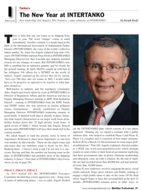Maritime Logistics Professional Magazine, page 27,  Q2 2011 International Association of Independent Tanker Owners