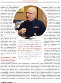 Maritime Logistics Professional Magazine, page 34,  Q2 2011 Bolling Air Force Base