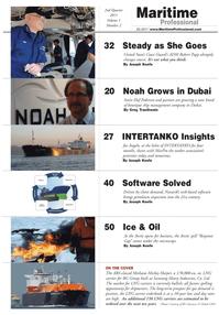 Maritime Logistics Professional Magazine, page 2,  Q2 2011 Robert Papp