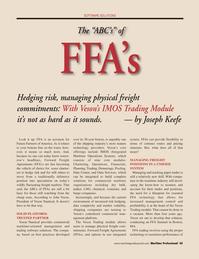 Maritime Logistics Professional Magazine, page 45,  Q2 2011 Massachusetts