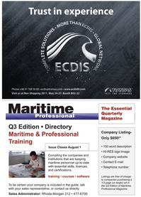 Maritime Logistics Professional Magazine, page 3,  Q2 2011