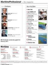 Maritime Logistics Professional Magazine, page 4,  Q2 2011 Irina Tabakina