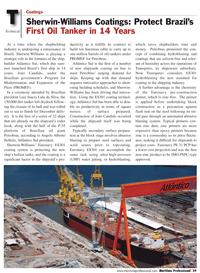 Maritime Logistics Professional Magazine, page 59,  Q2 2011 Euronavy ES301 coating system