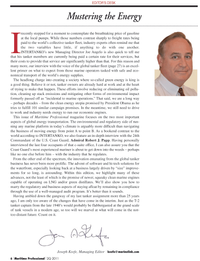 Maritime Logistics Professional Magazine, page 6,  Q2 2011 oil pollu
