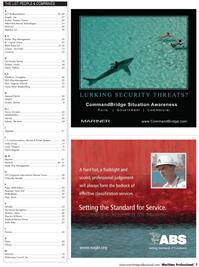 Maritime Logistics Professional Magazine, page 7,  Q2 2011 Robert