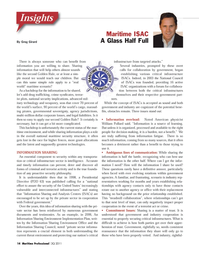 Maritime Logistics Professional Magazine, page 14,  Q3 2011 National Council