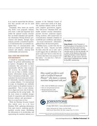 Maritime Logistics Professional Magazine, page 15,  Q3 2011 hensive information sharing network