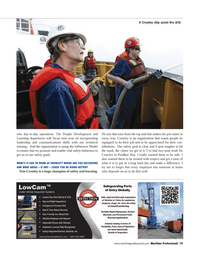 Maritime Logistics Professional Magazine, page 19,  Q3 2011 Tom Crowley