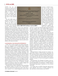 Maritime Logistics Professional Magazine, page 22,  Q3 2011 U.S. Coast Guard