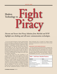 Maritime Logistics Professional Magazine, page 42,  Q3 2011 communications technologies