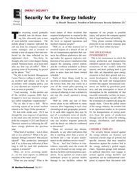 Maritime Logistics Professional Magazine, page 48,  Q3 2011 Ronald Thomason