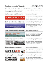 Maritime Logistics Professional Magazine, page 3rd Cover,  Q3 2011