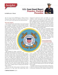 Maritime Logistics Professional Magazine, page 8,  Q4 2011 Maritime Professional 4Q 2011The U.S. Coast Guard