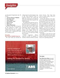 Maritime Logistics Professional Magazine, page 10,  Q4 2011 RINA S.p.A.