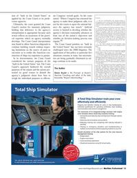 Maritime Logistics Professional Magazine, page 13,  Q4 2011 Bureau of Navigation