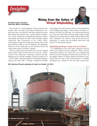 Maritime Logistics Professional Magazine, page 14,  Q4 2011 Virtual Shipbuilding By Robert Kunkel