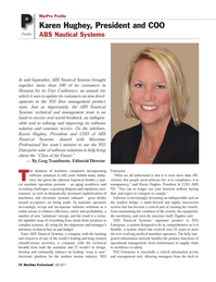 Maritime Logistics Professional Magazine, page 18,  Q4 2011 maritime companies incorporating software solutions