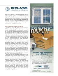 Maritime Logistics Professional Magazine, page 23,  Q4 2011 Association of Asian Classification Societies