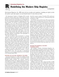 Maritime Logistics Professional Magazine, page 26,  Q4 2011 Marshal Islands