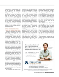 Maritime Logistics Professional Magazine, page 29,  Q4 2011 Marshall Islands Quality Council