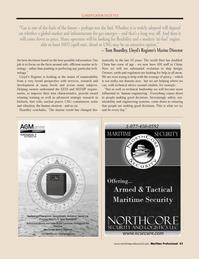 Maritime Logistics Professional Magazine, page 43,  Q4 2011 Tom Boardley
