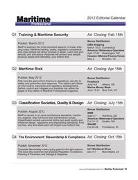 Maritime Logistics Professional Magazine, page 55,  Q4 2011 finance