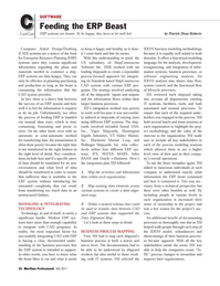 Maritime Logistics Professional Magazine, page 56,  Q4 2011 e - business