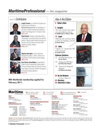 Maritime Logistics Professional Magazine, page 4,  Q4 2011 Kunkel