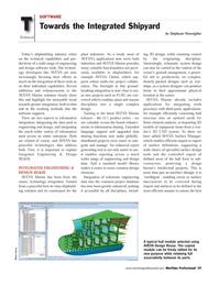 Maritime Logistics Professional Magazine, page 59,  Q4 2011 technology integration