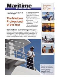 Maritime Logistics Professional Magazine, page 3rd Cover,  Q4 2011