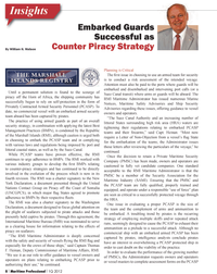 Maritime Logistics Professional Magazine, page 8,  Q1 2012