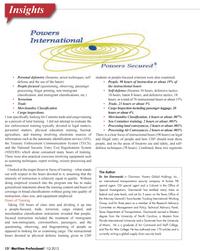 Maritime Logistics Professional Magazine, page 12,  Q1 2012