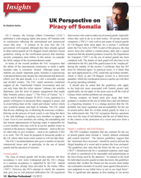 Maritime Logistics Professional Magazine, page 14,  Q1 2012