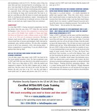 Maritime Logistics Professional Magazine, page 21,  Q1 2012